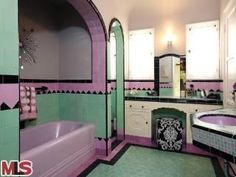 Miracle Mile pink and green bath | misscandydarling | Flickr