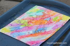 I would love to try all kinds of rain painting with my kids, it sounds like a (clean) and fun experiment to keep them busy when they aren't able to play outside much.