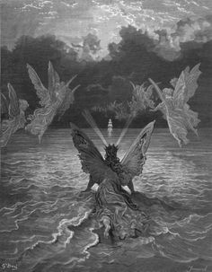 illustration by Gustav Dore - love the fairies, ghosts and open sea