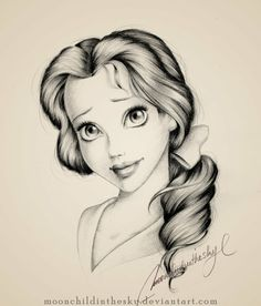 Pencil drawing, Belle