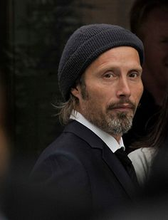 mads mikkelsen with hat...cute!