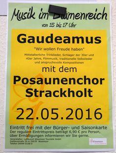 Wiesmoor-info: Chorkonzert im Blumenhallencafé