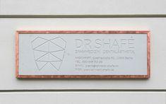 sign typography design dental office logo