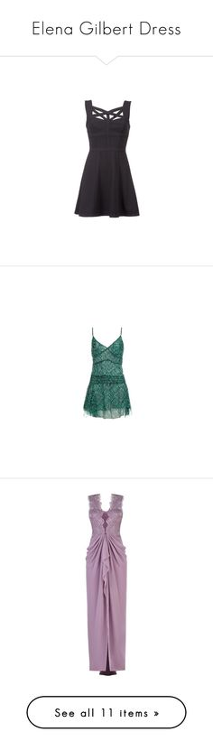 """""""Elena Gilbert Dress"""" by taught-to-fly19 on Polyvore featuring dresses, vestidos, bcbgmaxazria, woven dress, braid dress, bcbgmaxazria dress, short dresses, tops, tvd e gowns"""