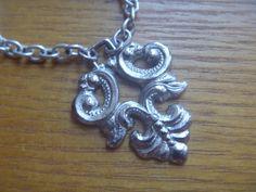 silver tone pendant, vintage silver tone pendant necklace Long Extensions, Uk Shop, Light Purple, Vintage Silver, Necklace Lengths, Etsy Shop, Pendant Necklace, Magpie, Chain