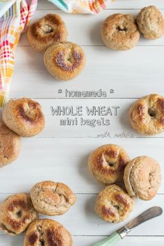Homemade Whole Wheat Mini Bagels | Baking a Moment