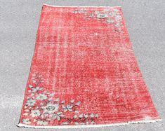 turkish rug oushak rug vintage rug turkey rug by turkishrugstar Pink Rug, Vintage Rugs, Bohemian Rug, Etsy Seller, Turkey, Home Decor, Decoration Home, Turkey Country, Room Decor