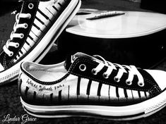 ❤️Love Converse? Love Music? You just found the perfect pair of shoes! ~Piano Keys are around each side of both shoes~  ❤️Where words fail, music