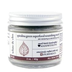 Spirulina Green Superfood Nourishing Mask from White