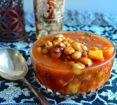"""Meatless Monday - Moroccan Style Vegetable Soup (""""Harira"""") - May I Have That Recipe"""