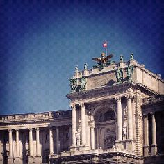 "Hofburg in Vienna. Former home of the Habsburg. Btw that' aslo the balcony Hitler hold his speech after the ""Anschluß"" :(("