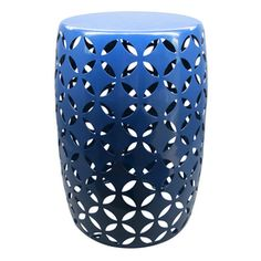 $39 Shop Garden Treasures 19.4-in Navy Round Steel Plant Stand at Lowes.com