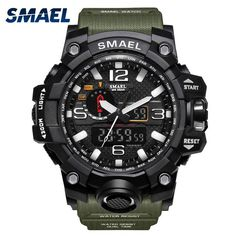 Item Type: Dual Display WristwatchesFeature: Multiple Time Zone,Complete Calendar,LED display,Auto Date,Stop Watch,Shock Resistant,Chronograph,Water Resistant,B