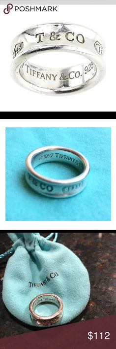 Vday Sale❣️Tiffany & Co. Concave Ring Tiffany & Co Concave Ring Markings: T & CO 925/ 1997 Tiffany & Co 925 Ring Size: 6 (Measurement is approximate and may vary slightly) No longer in production. Classic Ring. Selling with pouch and gift bag!   This item Is in great condition, shows signs of wear/age, surface scuffs or light marks are present in some areas. Please see attached photos to accurately assess Tiffany & Co. Jewelry Rings