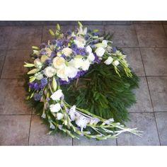 Wieniec na grób biało fioletowy