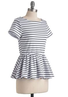 New Girl Courage Top in Stripes, #ModCloth