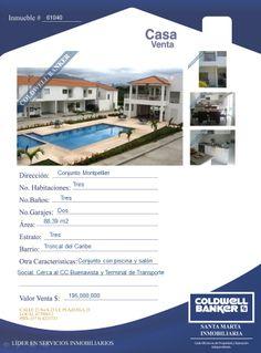 Casa en venta - Conjunto Cerrado Montpellier - Santa Marta