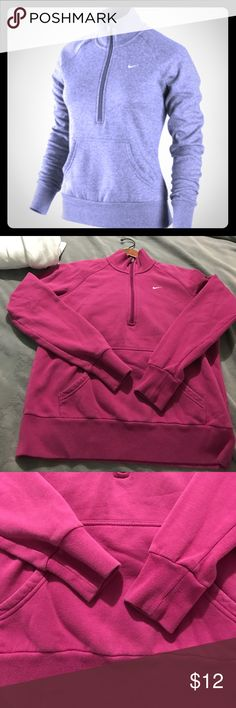 Nike half zip ✨⚡️⚡️ See this and similar NIKE sweatshirts - Ultra-soft fleece and contoured lines make the Nike Entry Half-Zip Women's Sweatshirt a must-have. Check my closet!! Nike Sweaters
