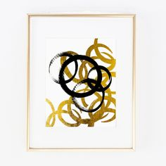 "Real Gold Foil Abstract Chain Reaction Black acrylic Modern Fashion Vogue Home room Decor Wall Art Print size poster 0309. ▲ Limited edition art print. ▲ These print is done with shiny gold finish. Printed on Beautiful Fine Paper. ▲Print Size: (8 x10"", 11""x14"" or 11""x17""). No frame or matting are included with purchase."