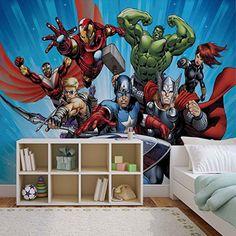 Marvel Avengers - Forwall - Fototapete - Tapete - Fotomural - Mural Wandbild - (963WM) - XXL - 368cm x 254cm - Papier (KEIN VLIES) - 4 Pieces
