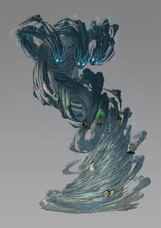 Eredan ITCG - Wind Elemental, Emmanuel Bouley on ArtStation at https://www.artstation.com/artwork/EwnkK