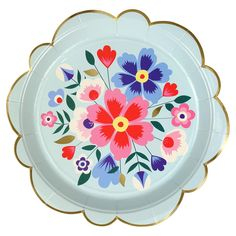 Bright Floral Plates (large)