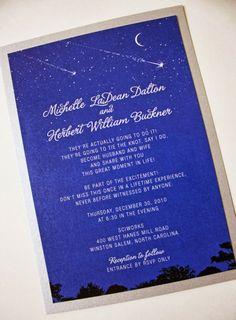 Starry Night Wedding Theme | Wedding Invitation. http://simpleweddingstuff.blogspot.com/2014/02/starry-night-wedding-theme.html