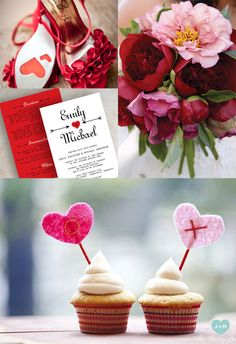 Valentine's Day Wedding Inspiration on itsabrideslife.com/Red Wedding/Valentine's Day/Valentine's Wedding