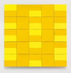 "my-kelde: ""Ellsworth Kelly. Two Yellows, oil on canvas, twenty-five joined panels "" Ellsworth Kelly, Acrylic Resin, Textures Patterns, Colored Pencils, Oil On Canvas, Quilts, Painting, Minimalism, Textiles"