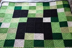 Signed With an Owl: Minecraft Afghan