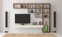 Living room tv furniture wall units, 7 cool contemporary tv wall unit designs for RFGNPHB - Home Decor Ideas Living Room Wall Units, Living Room Cabinets, Living Room Designs, Wall Cabinets, Wooden Cabinets, Living Rooms, Kitchen Cabinets, Wall Unit Designs, Tv Unit Design