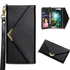 Galaxy S7 Case, WINNETEK Premium PU Leather Samsung S7 Wallet Case with Credit Card Holders Slim Fit Folio Flip Handbag Purse Women Magnetic Closure with Wrist Strap for Samsung Galaxy S7 - Black - http://leather-handbags-shop.com/galaxy-s7-case-winnetek-premium-pu-leather-samsung-s7-wallet-case-with-credit-card-holders-slim-fit-folio-flip-handbag-purse-women-magnetic-closure-with-wrist-strap-for-samsung-galaxy-s7-black/
