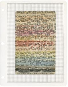 Steve McCaffery, Monotony Test, 1969