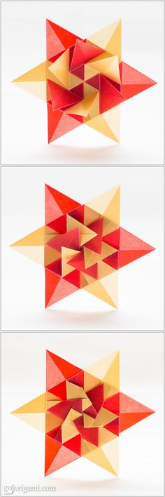 Find out how to fold a new modular origami star - Estrella Parati Prata by Carla Onishi de Godoy. Photos and link to the tutorial.