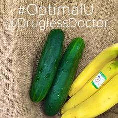 Did you have a banana for breakfast this morning? If you have pain later today or tomorrow, there's a good chance that it was the culprit. If you don't want pain, my #OptimalU for today on page 63 will help: Substitute a wedge of cucumber, a relative to the watermelon, for your potassium instead of a high-carbohydrate #banana. #health #food #cucumber