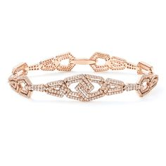 The London Collection from William & Son, London. Diamond bracelet set in 18ct rose gold.