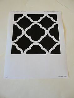 Quatrefoil pattern - there's a dropbox link near the bottom of this website.and also a cricut SVG file Vinyl Crafts, Vinyl Projects, Paper Crafts, Silhouette Cutter, Silhouette Machine, Stencils, Silhouette Images, Silhouette Cameo Projects, Cricut Creations
