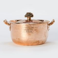 Is it absurd to want a $400 saucepan (and all of its sister pans)? Probably... but, I just love the copper! Terrain Hand-Hammered Copper Saucepan  #shopterrain