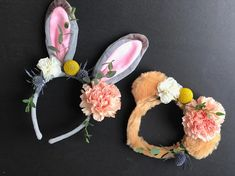 Fur animal flower crowns for Easter or kids birthday party by Southern Sky Design