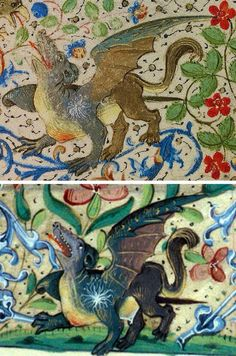 Separated at Birth! Flemish & French Dragons, 1469 & 1500s (Getty Ms. 37 & Bodleian Ms. Buchanan e. 3)