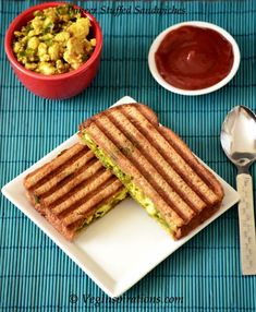Paneer Stuffed Sandwich-Indian Cottage curry stuffed sandwich  #Recipes #Sandwiches #Indianfood #Vegetarian #Paneer