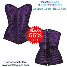 Nayomi Brocade Overbust Purple Corset, Black Friday Sale. Sale Black Corset Dress, Purple Corset, Wedding Corset, Plus Size Corset, Steampunk Corset, Waist Training Corset, Sale Sale, Black Friday