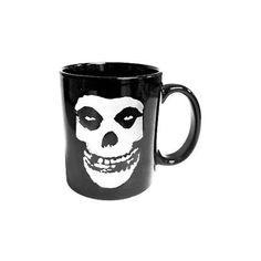 MISFITS FIEND SKULL COFFEE MUG ($10) ❤ liked on Polyvore