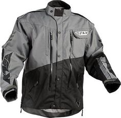Fly Racing Patrol Dirt Bike Enduro Dual Sport Offroad Jacket Md Gray