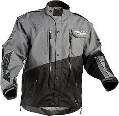 Fly Racing Patrol Dirt Bike Enduro Dual Sport Offroad Jacket Md Gray