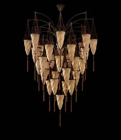 Venetia Studium 30-light Cesendello Fortuny chandelier