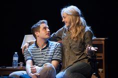Ben Platt and Rachel Bay Jones as Evan and Heidi Hansen in Dear Evan Hansen