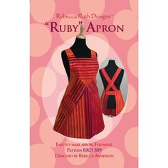 Free Sewing Patterns Aprons | The Ruby Apron Pattern is a chic bib style apron design that's easy to ...