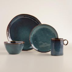 Our exclusive Indigo Organic Reactive Glaze Dinner Plates might just as likely be found in a boutique ceramics shop for twice the price. Each stoneware plate is one of a kind, finished with a reactive glaze that shines beautifully on your table. www.worldmarket.com #WorldMarket #FallHomeRefresh