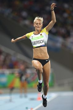Kristin Gierisch of Germany competes in the Women's Triple Jump final on Day 9…